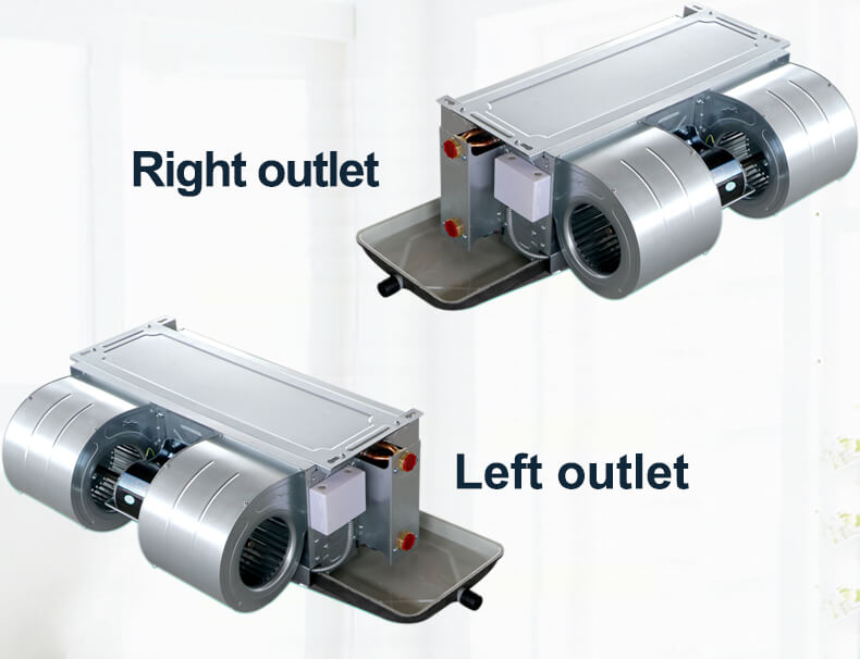 Horizontal concealed fan coil FP51 left and right outlet